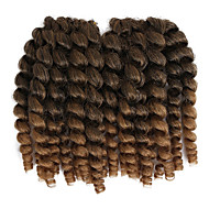 Pre-loop Haak Braids Haarvlechten 8 inch Jamaïcaans Bounce haar China Kastanjebruin Zwart / Strawberry Blonde Zwart / Medium Auburn Zwart