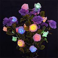 5m 20 ledd batteridrevne streng blomst rose fe lys jul dekorasjon (varm hvit / hvit / rosa / gul / multi farge / grønn / rød / lilla / blå)
