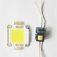cheap Lamp Bases & Connectors-8W COB LED DIY Chip Board Panel Bead with LED Power Supply Driver