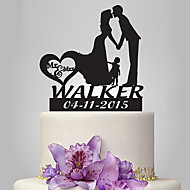 Decorações de Bolo Romance Casamento Família Casal Clássico Casamento Com Bolsa Poly