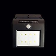 16led controle de luz solar sensor de corpo humano lâmpada exterior pátio lâmpada de parede luzes de rua integradas