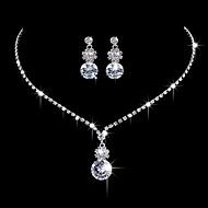 Žene Viseće naušnice Choker oglice Svadbeni nakit Setovi Kubični Zirconia Elegantno Moda Vjenčanje Party/večernja odjeća Angažman Kubični