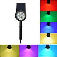 baratos Focos-1pç Focos de LED / Luzes do gramado Impermeável / Solar / Regulável RGB Iluminação Externa / Pátio / Jardim