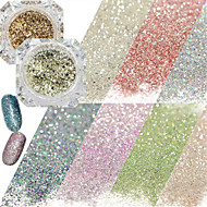 0.2g/bottle Fashion Galaxy Starry Effect Gorgeous Nail Art DIY Shining Platinum Glitter Power Decoration BG01-20