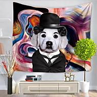 tanie Dekoracje ścienne-Ludzie Abstrakt Dekoracja ścienna 100% Polyester Wzorzysty Streszczenie Wall Art, Ścienne Gobeliny Dekoracja