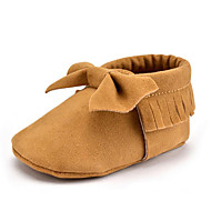 cheap Baby Shoes-Children's Baby Shoes Microfibre Winter Fall First Walkers Loafers & Slip-Ons Bowknot Tassel for Casual Party & Evening Dress Green Pink
