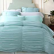 מוצק 4 חלקים קפלים כיסוי שמיכת יחידה 1 כריות מיטה 2 יחידות סדין יחידה 1