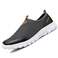 Men's Loafers & Slip-Ons Light Soles PU Tulle Spring Summer Outdoor Casual Flat Heel Blue Coffee Gray Flat