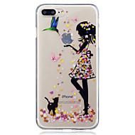 Käyttötarkoitus iPhone X iPhone 8 kotelot kuoret IMD Läpinäkyvä Kuvio Takakuori Etui Kissa Sexy Lady Pehmeä TPU varten Apple iPhone X