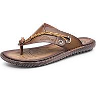 halpa -Miehet Sandaalit Comfort Kumi Kesä Comfort Tasapohja Ruskea Sininen Khaki Alle 1in
