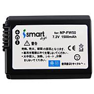 ismartdigi FW50 7.2V 1500mAh kamera akku Sony a7 a7r a7rm2 a6300 a5100 A6000