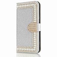 ケース 用途 Samsung Galaxy S8 Plus S8 ウォレット カードホルダー ラインストーン スタンド付き フリップ 磁石バックル フルボディー ハード のために S8 S8 Plus S7 edge S7 S6 edge S6 S5