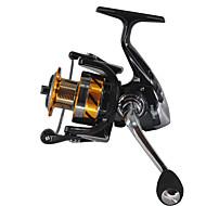 Spinne-hjul 5.5:1 Gear Forhold+14 Kuglelejer Hand Orientering ombyttelig Havfiskeri Fluefiskeri Madding Kastning Isfikeri Spinning