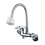 cheap Kitchen Faucets-Kitchen faucet - Modern Traditional Chrome Pot Filler Standard Spout Wall Mounted