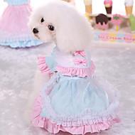 Cachorro Vestidos Roupas para Cães Fofo Casual Princesa Rosa claro Azul Claro Ocasiões Especiais Para animais de estimação