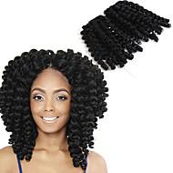 前のループかぎ針編みの三つ編み ヘアブレイズ 8 インチ ジャマイカン・バウンスヘア 中国 オーバーン ブラック/ストロベリーブロンド ブラック/ミディアムオーバーン ブラック/オーバーン ブラック/バーガンディ ブレイズヘア ヘアエクステンション