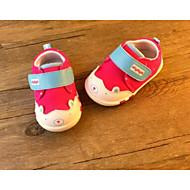 Genç Kız Düz Ayakkabılar İlk Adım PU Bahar Sonbahar Günlük Yürüyüş İlk Adım Sihirli Bant Alçak Topuk Turuncu Fuşya Koyu Mavi Düz