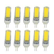 billige Bi-pin lamper med LED-4W LED-lamper med G-sokkel T COB 350-400 lm Varm hvit Hvit V 10