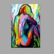 handgeschilderd mes abstracte olieverfschilderij op doek met draagframe klaar om te hangen