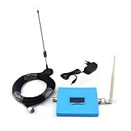 Mini intelligent skjerm 2g gsm 900mhz 4g dcs 1800mhz mobiltelefon signal booster signal repeater med pisk antenne / sucker antenne blå