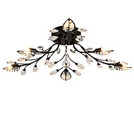 billige Taklamper-LightMyself™ 6-Light Takplafond Omgivelseslys Malte Finishes Metall Krystall 200-240V / 110-120V Pære Inkludert / G9