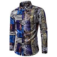 Majica Muškarci,Ležerne prilike Kinezerije Party Dnevno Izlasci Dugih rukava Kragna košulje Proljeće Jesen Pamuk Poliester