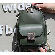 baratos Mochilas-Mulheres Bolsas PU mochila para Casual Verde / Preto / Vermelho