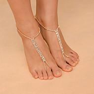 בגדי ריקוד נשים תכשיט לקרסול/צמידים קריסטל סגסוגת אופנתי Star Shape תכשיטים עבור קזו'אל ספורט פנאי
