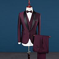 Χαμηλού Κόστους Ανδρική Μόδα & Ρούχα-Ανδρικά Μεγάλα Μεγέθη Στολές Μονόχρωμο, Patchwork Κλασικό Πέτο Λεπτό
