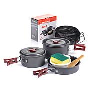 cheap Camp Kitchen-Naturehike Camping Cookware Mess Kit Spoon Bowls Portable Aluminium for Camping / Hiking Camping Picnic