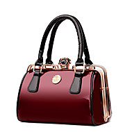 Women Bags All Seasons Patent Leather Tote for Wedding Event/Party Casual Formal Office & Career Blue Black Red