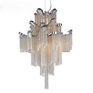 baratos Lustres-Lustre de alumínio e12 / e14 / designer pingente de luz / prata&Cor de ouro / showroom sala escada em espiral escada