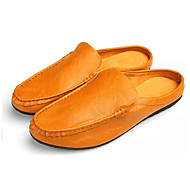 baratos Sapatos Masculinos-Homens Couro Ecológico Primavera / Outono Conforto Tamancos e Mules Branco / Preto / Castanho Claro