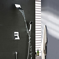 Contemporary Brass Chrome Shower Faucet with Shower head / Hand Shower