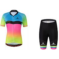 Miloto Mulheres Manga Curta Camisa com Shorts para Ciclismo Moto Camisa/Roupas Para Esporte, Redutor de Suor, Tiras Refletoras