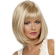 Naisten Synteettiset peruukit Suojuksettomat Keskikokoinen Suora Vaaleahiuksisuus Luonnollinen peruukki puku Peruukit