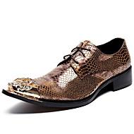 Χαμηλού Κόστους Προβεβλημένες Προσφορές-Γιούνισεξ Τα επίσημα παπούτσια Νάπα Leather Φθινόπωρο / Χειμώνας Oxfords Χρυσό / Πάρτι & Βραδινή Έξοδος