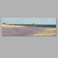 Χαμηλού Κόστους -Hang-ζωγραφισμένα ελαιογραφία Ζωγραφισμένα στο χέρι - Τοπίο Καλλιτεχνικό Καμβάς