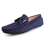 baratos Sapatos Masculinos-Homens Sapatos de couro Couro / Pele Primavera / Verão Mocassins e Slip-Ons Azul Escuro / Azul / Vinho