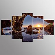 baratos -Estampados de Lonas Esticada Abstracto,5 Painéis Tela Horizontal Estampado Decoração de Parede For Decoração para casa