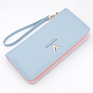 Women Bags PU Polyester Checkbook Wallet for Event/Party Shopping Casual All Seasons Black Aquamarine Silver Gray Pink