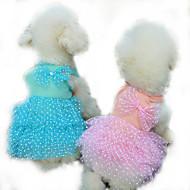Cachorro Vestidos Roupas para Cães Casual Princesa Amarelo Fúcsia Azul Rosa claro Ocasiões Especiais Para animais de estimação