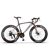 hesapli -Konfor Bisikletleri Bisiklet 21 Hız / 27 Hız 26 inç / 700CC Shimano Çift Disk Freni Sıradan Sönümleyicisiz Sıradan Aluminum Alloy / Karbonatlı Çelik