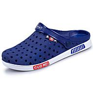 お買い得  メンズクロッグ&ミュール-男性用 靴 PUレザー 夏 コンフォートシューズ 下駄とミュール のために アウトドア ブラック ブルー