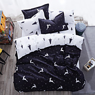 cheap Contemporary Duvet Covers-Duvet Cover Sets Animal 4 Piece Poly/Cotton Reactive Print Poly/Cotton (If Twin size, only 1 Sham or Pillowcase)