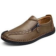 Homme Chaussures Cuir Nappa Printemps Automne Confort Mocassins et Chaussons+D6148 Fermeture Pour Décontracté Gris Marron Kaki
