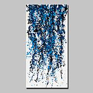 billiga Abstrakta målningar-Hang målad oljemålning HANDMÅLAD - Abstrakt Abstrakt Moderna Duk