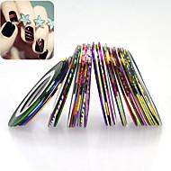 32rolls/set Klistermærker & Tape Glitrende glamourøst Værktøj og tilbehør / Nail Art Design