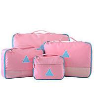 4 Stücke Reisekoffersystem Kompakt Leichtes Material Ultra-leichter Stoff Kulturtasche Koffer Accessoires für Kleider Oxford-Textil für