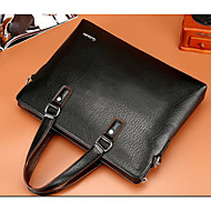 Men Bags Cowhide Briefcase for Casual Outdoor All Seasons Black Brown